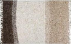Naturelkleurige Lorena Canals - Wollen vloerkleed - Forever Always - 140 x 200 cm