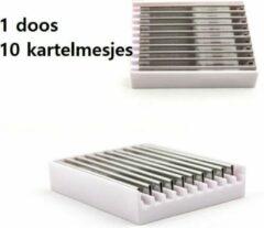 Zilveren Akyol | Styling Blade - 10 stuks - Gekartelde Scheermesjes |Vervangmesjes