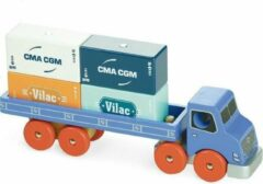 Vilac houten vrachtwagen met containers - handgemaakt