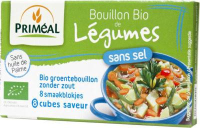 Afbeelding van Primeal Groentebouillon blokjes zonder zout 9 gram 8x9 Gram