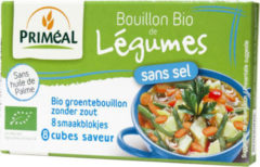 Primeal Groentebouillon blokjes zonder zout 9 gram