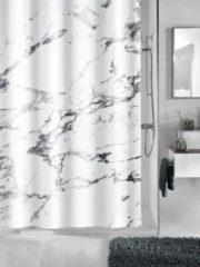 Duschvorhang 'Marmor' Kleine Wolke weiß/grau marmoriert