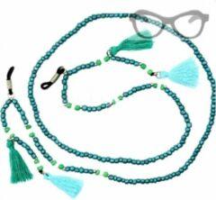 Turquoise Charme Bijoux Brillen- kettinkje- Turqoise- kwastjes-koord
