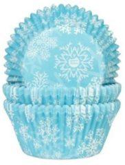 Blauwe House of Marie Cupcake Cups IJskristal Blauw (Frozen) 50x33mm. 50st.
