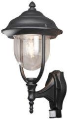Konstsmide Wandlamp Parma Soragna zwart klassieke buitenlamp bewegingssensor 7235-750