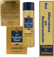 Set: Vergulde hand Scheerschuim en Aftershave