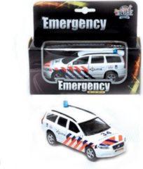 Witte Kids Globe Politiewagen Volvo V70 met licht en geluid - Speelgoedvoertuig: schaal 1:21