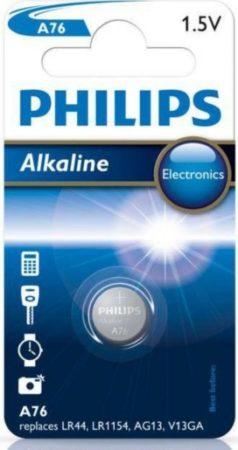 Afbeelding van Zilveren Philips A76/01B LR44 knoopcel - Minicells Alkaline Batterij