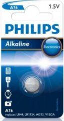 Zilveren Philips A76/01B LR44 knoopcel - Minicells Alkaline Batterij