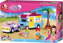 Sluban Bouwstenen Girl's Dream Auto met Caravan Bouwstenen Girl's Dream Auto met Caravan