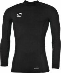 Zwarte Sondico ondershirt met opstaande kraag - Heren - Black - L