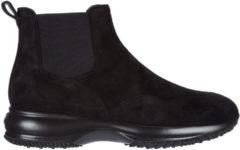 Nero Hogan Stivaletti stivali donna in camoscio