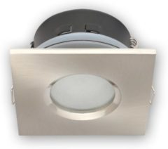 Led-line LED line Inbouwspot - Vierkant - Waterdicht IP44 - GU5.3 Fitting - 83x83 mm - Satijn