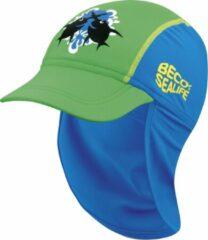 Beco Sealife - Zonnepet kinderen - Zonnepetje kind - Blauw/Groen 2-6 jr