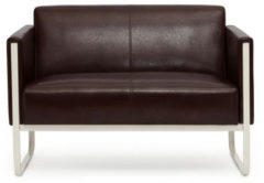 Hjh OFFICE Lounge Sofa ARUBA mit Armlehnen