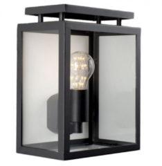 Zwarte KS Verlichting K.S. Verlichting De Vecht Wandlamp - Zwart
