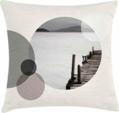 Taupe ECO Design FT 009015 Kussen Bridge In Circle 45x45