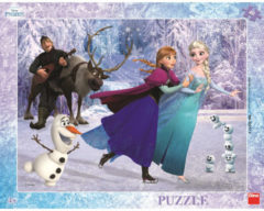 Dino frame puzzel Frozen Schaatsen 40pcs