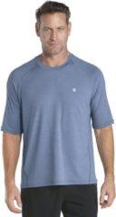 Blauwe Coolibar UV beschermend shirt - Blauw - Heren - Maat XL