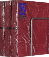 Bordeauxrode Merkloos / Sans marque Servetten - Papier - Set van zes pakjes - 6 x 20 stuks - Art Star Bordeaux - 33cm x 33cm