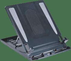 Zwarte Desq Laptop standaard + doc. houder zwart 30,2x24x2,9cm.