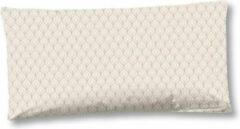 Creme witte 2x Trendy Katoen/Satijn Sierkussenhoezen | 40x80 | Subtiele Glans | Luxe En Zacht