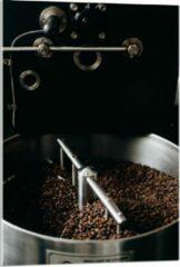 Grijze KuijsFotoprint Plexiglas - Koffiebonenmachine - 60x90cm Foto op Plexiglas (Met Ophangsysteem)