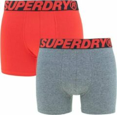 Superdry - boxers 2-pack rood & grijs - XXL