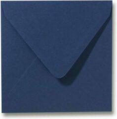 Merkloos / Sans marque Luxe vierkante enveloppen - 100 stuks - 14x14 cm - Donkerblauw - 90 grams - 140x140 mm