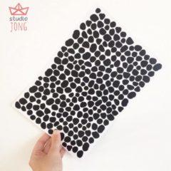 Studio Jong Dotjes/stipjes muurstickers zwart