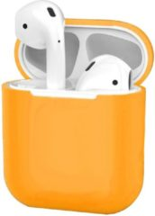 BTH Hoes voor Apple AirPods Hoesje Case Siliconen Cover Ultra Dun - Oranje
