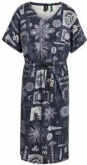 G star raw jurk van biologisch katoen donkerblauw wit zwart
