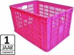 Torino Tormino - Fietskrat - Krat Large - 34.5 liter - 26 inch - 28 inch - neon roze