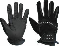 Zwarte Horka rijhandschoenen Bling