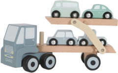 Tiamo Little Dutch Houten Transportwagen Blauw