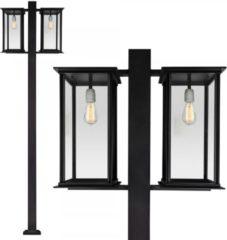Zwarte KS Verlichting Capital lantaarn 2 lichts
