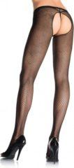 EDC gecensureerd Leg Avenue Netpanty Panty Zonder Kruis - zwart - XL/XXL Plus size