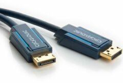 DisplayPort Aansluitkabel clicktronic DisplayPort Kabel [1x DisplayPort stekker - 1x DisplayPort stekker] 1 m Blauw