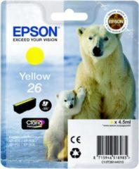 Gele Epson 26 (T2614) - Inktcartridge / Geel