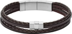 Zilveren Fossil Vintage Casual Mannen Armband JF02934040
