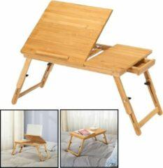 Laptoptafel voor op bed van bamboe hout - Hoogte verstelbaar, kantelbaar & Inklapbaar - Bedtafel voor laptop, boek, tablet - Ontbijt op bed tafel - Decopatent®