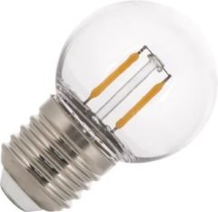 Transparante Bailey kogellamp LED filament 2W E27 plastic