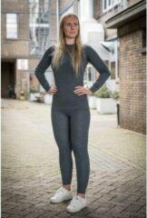 Grijze Chimb Thermokleding - Dames - Maat M - Shirt+Broek - Thermowear - Thermoset - Antraciet - Winterset