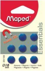 Maped Office Maped magneten op blister diameter 10 mm, 8 stuks, 1 kleur per blister (groen, blauw of fuchsia)