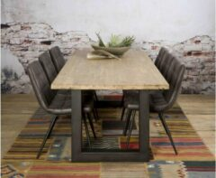Bruine Tower Living Eettafel Trego 200x100x77 | Acacia hout