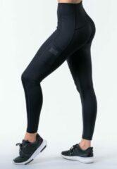 Zwarte Reeva sportlegging - fitness legging - high waist - XS (dames) (reflective)