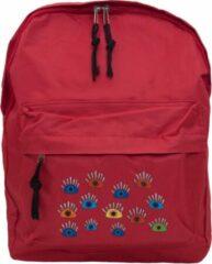 BiggDesign My Eyes Op Je Rode Rugzak, Perfect Voor School en Dagelijks Gebruik
