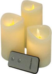 Witte MikaMax LED Kaars Bewegende Vlam - Set van 3