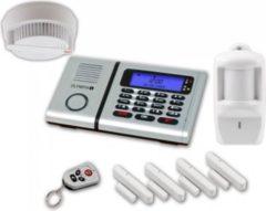 OLYMPIA 6060 plus Alarmanlagen Set mit 4 Tür-/Fensterkontakten Rauchmelder und Bewegunsmelder