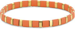 CO88 Collection Divine 8CB 90684 Stalen armband - oranje hematiet - One Size - goudkleurig